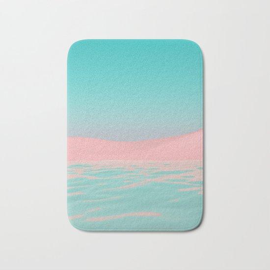 Pink Beach Bath Mat