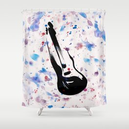 Rock n Roll Guitar No.7 by Kathy Morton Stanion Shower Curtain