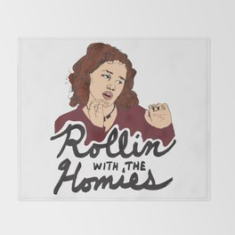Tai Rollin With The Homies Throw Blanket