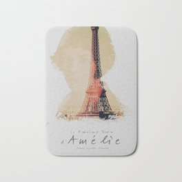 Amelie, minimalist movie poster, french film playbill, the fabulous life of Amélie Poulain, Bath Mat