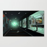 subway Canvas Prints featuring Subway by Jean Walter