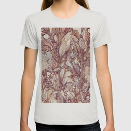 abstract camouflage leaves T-shirt