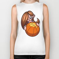 basketball Biker Tanks featuring Basketball Player by Artistic Dyslexia
