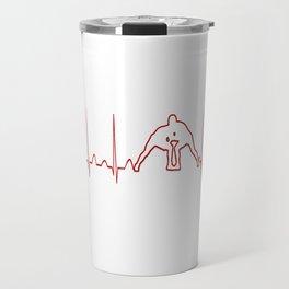 WRESTLER'S HEARTBEAT Travel Mug