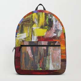 Mountain river bright image Backpack