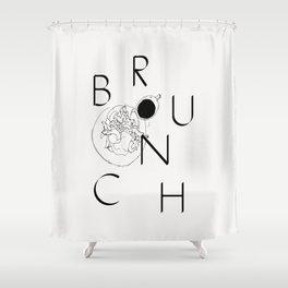 B R U N C H Shower Curtain