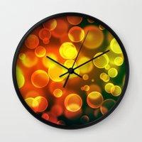 bokeh Wall Clocks featuring bokeh by davidmichel