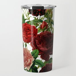 Vintage & Shabby Chic - Red Roses Travel Mug