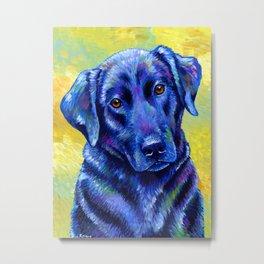 Colorful Labrador Retriever Dog Metal Print