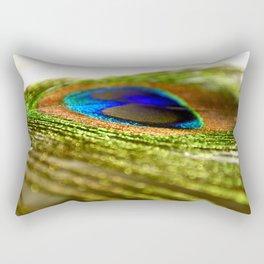 Shimmering Peacock Rectangular Pillow