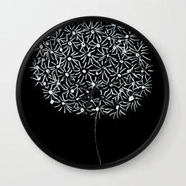 doodle flower Wall Clock