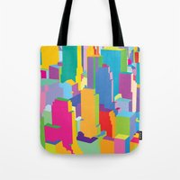 cityscape Tote Bags featuring Cityscape by Glen Gould