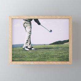 Golfer Driving Framed Mini Art Print