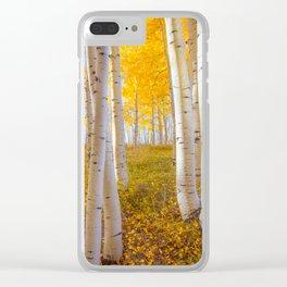 Aspens In Autumn, Utah Clear iPhone Case