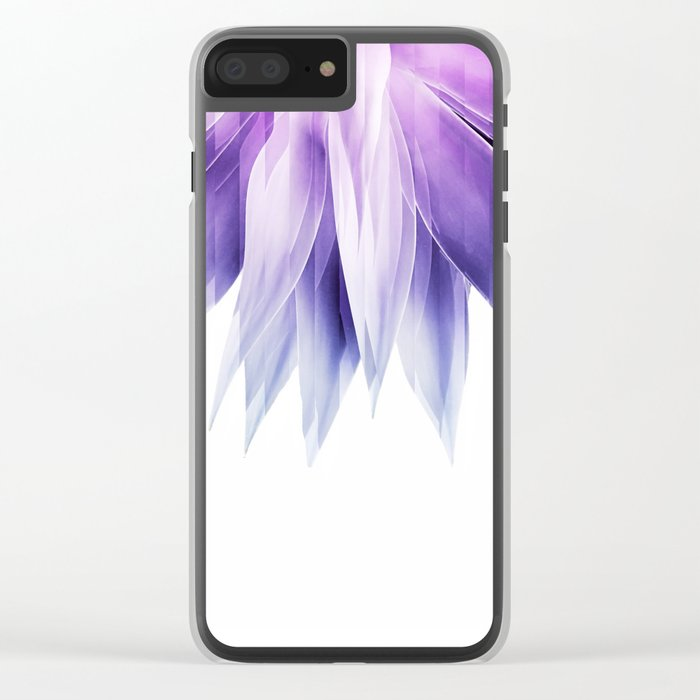 Agave geo fringe - amethyst Clear iPhone Case