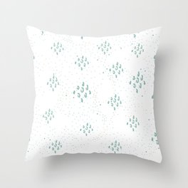 Seamless Pattern with cute Rectangles Throw Pillow