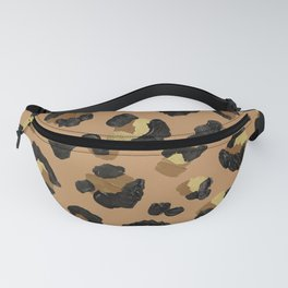 Leopard Print – Neutral & Gold Palette Fanny Pack