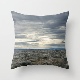 High Desert Sky Throw Pillow
