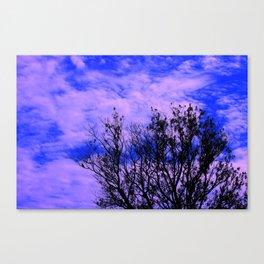 Tree In A Big Blue Sky  Canvas Print