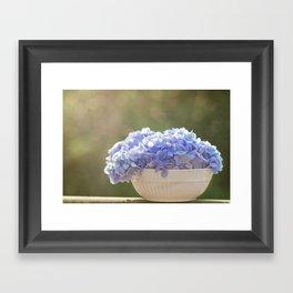 Hydrangea Bowl Framed Art Print