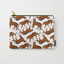 Tigers (White and Orange) Carry-All Pouch