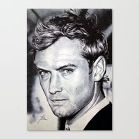 law Canvas Prints featuring Jude Law by Matteo Felloni Artista