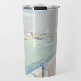 Georges Seurat - The Channel of Gravelines Travel Mug