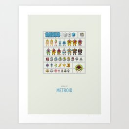 Metroid Model Kit Art Print