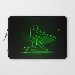 Baseball pitcher throws ball. neon style Laptop Sleeve