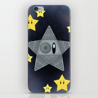 death star iPhone & iPod Skins featuring Death Star by Verreaux