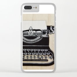 Type me a letter Clear iPhone Case