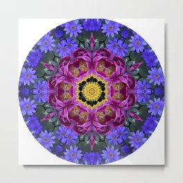 Floral finery - vivid kaleidoscope 20170321_135334 e k1 Metal Print