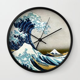 The great wave, famous Japanese artwork Wall Clock