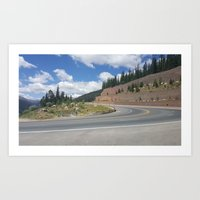 Summer in the Rockies- A Winding Road Art Print