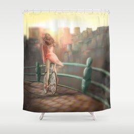 Keep your balance! Shower Curtain