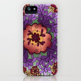 Pomegranate Poppies iPhone Case
