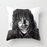 kili Throw Pillows featuring Kili by laya rose