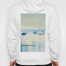 Sailing in soft blue Hoody