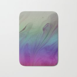 Fluid Nature - Rainbow Smoke - Acrylic Pour Art Bath Mat