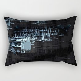 Spaceship structure urban intricate pattern abstract background Rectangular Pillow
