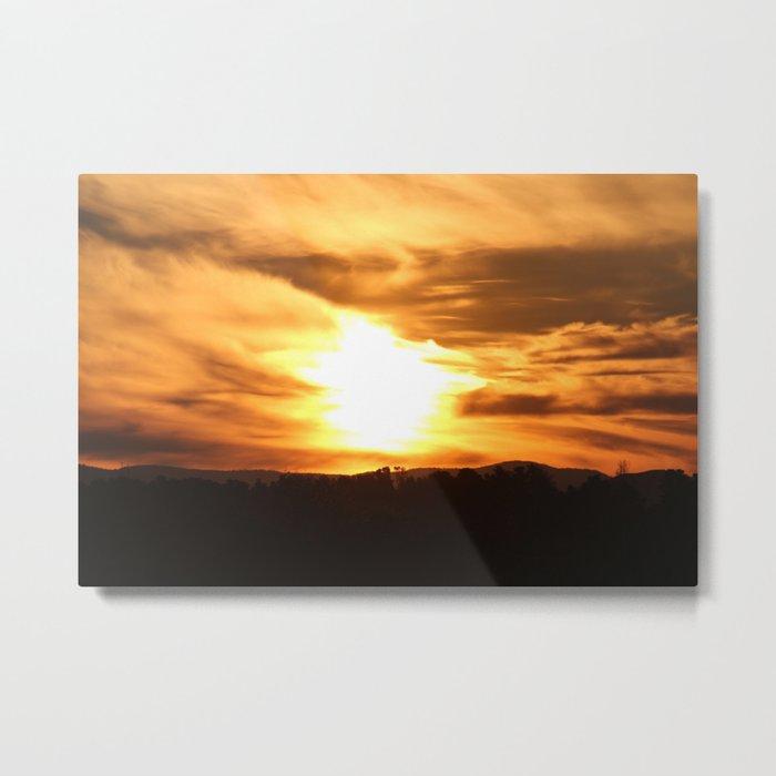 Burning sunset Metal Print