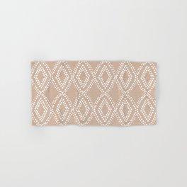 Diamond Dots in Tan Hand & Bath Towel