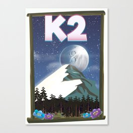 K2 Mountain travel poster Canvas Print