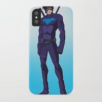 nightwing iPhone & iPod Cases featuring Nightwing by Kawo