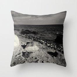 Black and white  stones Throw Pillow