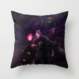 mid-nox cool breeze Throw Pillow