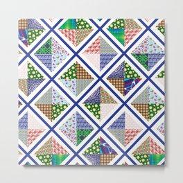 Pattern Quilt Metal Print