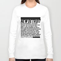 detroit Long Sleeve T-shirts featuring New Detroit by ashurcollective