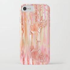 Tiger in the Trees - Painting / Collage iPhone 7 Slim Case