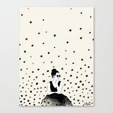 Polka Rain III Canvas Print